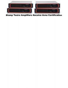 Biamp Tesira Avnu Product Cert Slide